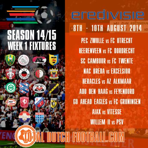 Eredivisie-Fixture-Week1